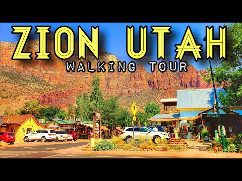 [4K] ZION SPRINGDALE UTAH | WALKING TOUR AUGUST 5, 2020