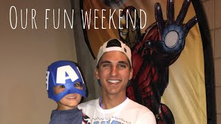 Superheroes LIVE/ day at the pool! My first vlog