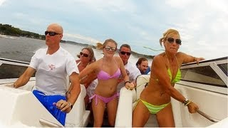Seven Person Boat Crash - Feel Bad For Laughing But Can't Stop!