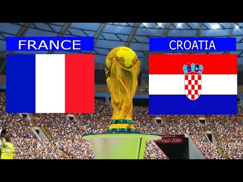 PES | FRANCE vs CROATIA FIFA World Cup 2018 FINAL | Full match | Gameplay PC