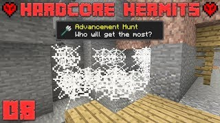 Minecraft Hardcore Hermits 08 Mine Shaftin! (Advancement Hunt)