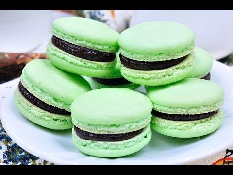 FoodTravelTVChannel - มาการองช็อกโกแลตมิ้นท์ Chocolate Mint Macaron - Green Macaron มาการองสูตรพื้นฐานรสชาติหอมหวานชวนรับประทาน...