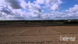 Time-lapse de paysages agricoles en Anjou avant les semis