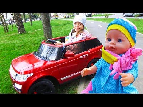 Кукла БЕБИ БОН и Настя катаются на МАШИНЕ Новая ОДЕЖДА для Baby Born Кор… видео