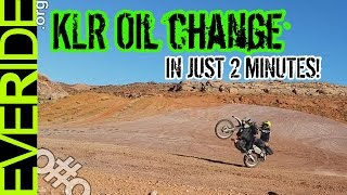 10. Kawasaki KLR 650 Oil Change - All Details in 2 Minutes o#o
