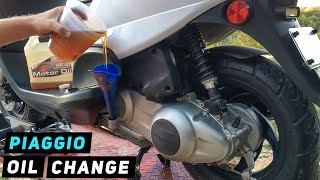 2. Piaggio Fly - Engine Oil Change