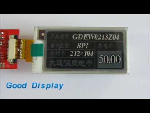 Good Display 's 2 13 inch 3-color E paper display  updating