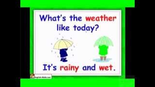 Weather lesson plans for ESL, English for kids