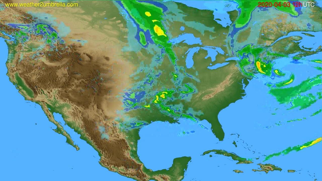 Radar forecast USA & Canada // modelrun: 00h UTC 2020-04-03