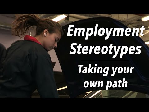 A female mechanic is leading the drive against gender stereotyping in the workplace by challenging the belief that some jobs are reserved for men or women.