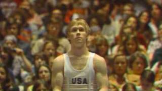 Bart Conner's high bar routine from the 1976 American Cup - Score: 9.60.