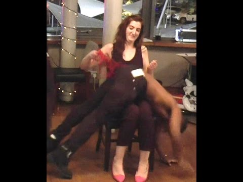 Simon Sez Comedy Stage Hypnosis Part 7 - Mistress Gracie Spanks Kinky Volunteers Over the Knee