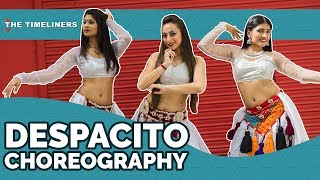 Middle-East meets Latino. Watch these amazing belly dancers perform on Despacito.Please subscribe to our channel by clicking the following link to make sure you get the notifications for our videos:https://goo.gl/TVeum4Visit Our Website : https://www.thetimeliners.comLike Us On Facebook : https://www.facebook.com/TheTimelinersTweet Us : https://twitter.com/the_timelinersFollow Us On : https://www.instagram.com/thetimeliners/Credits:Original Song: DespacitoSingers: Luis Fonsi & Daddy Yankee Music Rights: Universal Music LatinoChannel Head: Akansh GaurDirector: Shreya MehtaChoreography: Nickita Kumar & Nisha BishtDancers: Nickita Kumar, Nisha Bisht & Madhuri Singh(Myra)Cinematography: Georgy John PanickerEditor: Rishab Malhotra Line Producer: Puneet WaddanMusic: Nikhil (Instagram: _thetablaguy)Graphics: Georgy John PanickerSocial Media: Bhavya Prabhakar, Shreya Mehta, Vartika Manchanda & Siddhant GroverMake-up Artist: Team Ravisher