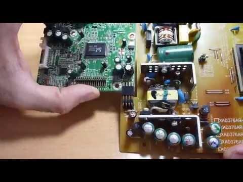 Pantalla/Monitor PC no enciende o se apaga, reparación | Hanns HC194D