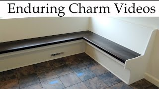 Built-in bench seating for a kitchen or other room can be a great way to add style and function while conserving space.  In this video I'll take you through the complete design and construction of some kitchen bench seating built into a 90 degree corner.  I'll also go over the finishing of the seat itself, using a combination of aniline dye stain, milk paint, a glaze stain, and Emtech brand polyurethane.