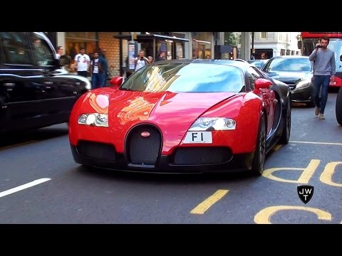 BUGATTI VEYRON WITH MOST EXPENSIVE LICENSE PLATE (£10 MILLION) 'F1' IN LONDON! @Bugatti