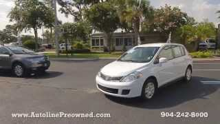 Autoline Preowned 2012 Nissan Versa 1.8 S For Sale Used Walk Around Review Test Drive Jacksonville