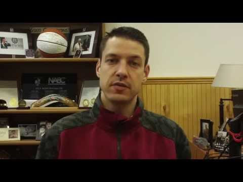 Matt Logie men's basketball Feb. 2, 2015