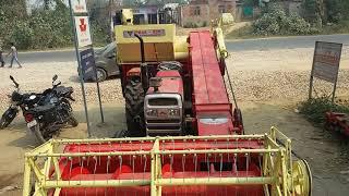 Mini Combine Harvester on MF 9500 part 1