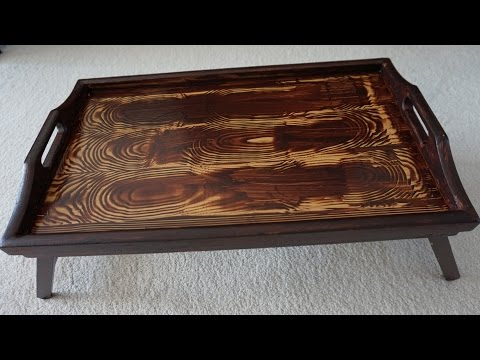 DIY Project How To Paint A Breakfast Tray Faux Wood Grain Rich Mahogany Woodsheen