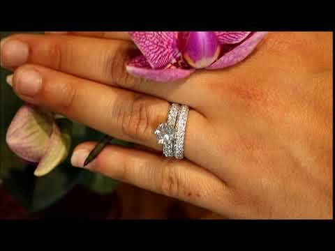 Pave Diamond Wedding Set