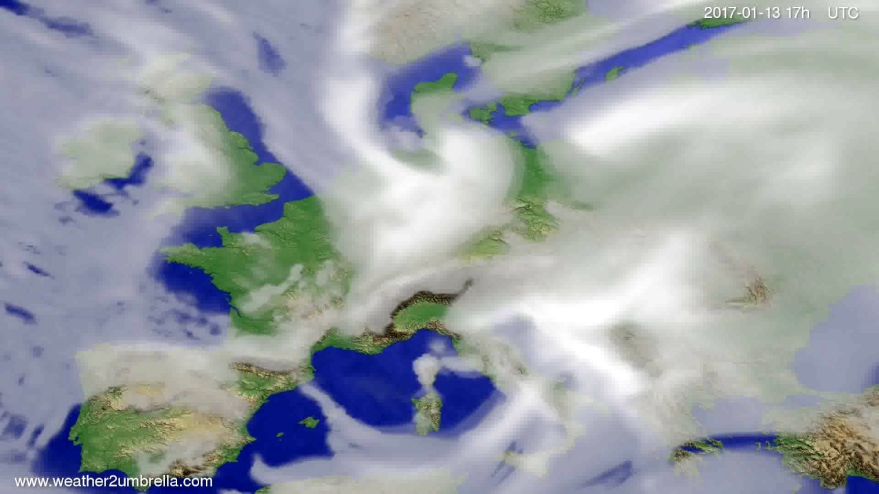 Cloud forecast Europe 2017-01-11