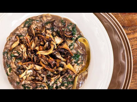 How To Make Red Wine Risotto With Kale & Mushrooms By Rachael