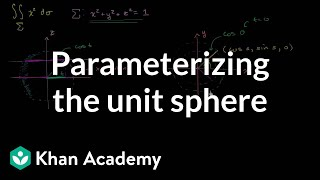 Surface Integral Example Part 1 - Parameterizing the Unit Sphere