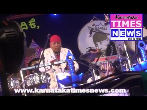 Percussionist Sivamani enthralling the crowd at Alva's Virasat 2015