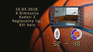 kk novi beograd 7 kk sava 52 48 (kadeti 2, 10 03 2018 ) košarkaški klub sava
