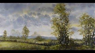 Birch Lane - Time Lapse Painting