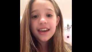 Mackenzie Ziegler Singing Story Of My Life