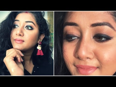 DURGA PUJA SPECIAL|| LOOK 2 || FULL-FACE EASY NIGHT LOOK ||  ||BEWIDSHREE