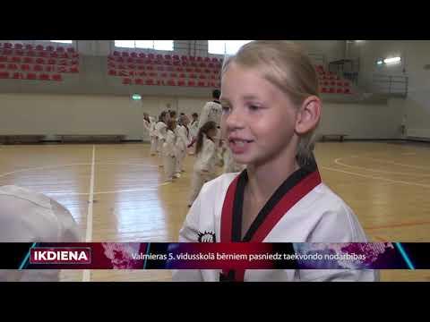 Valmieras 5.vidusskolā pasniedz taekvondo nodarbības