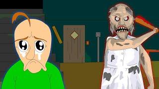 GRANNY THE HORROR GAME ANIMATION #3 Baldi VS Granny (Parody)