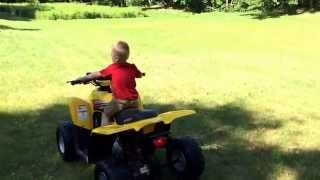 5. My 2yr old Bryce's first ride on his Kymco Mongoose 50 4T