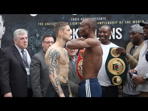 Ricky Burns v Julius Indongo weigh-in