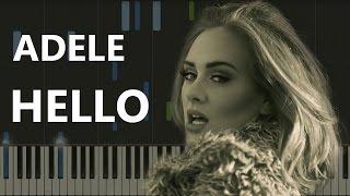 Adele - Hello (пример игры на фортепиано) piano cover