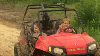 10. atv Mudding in the rzr 170, outlaw 90 @ burdens creek ATV