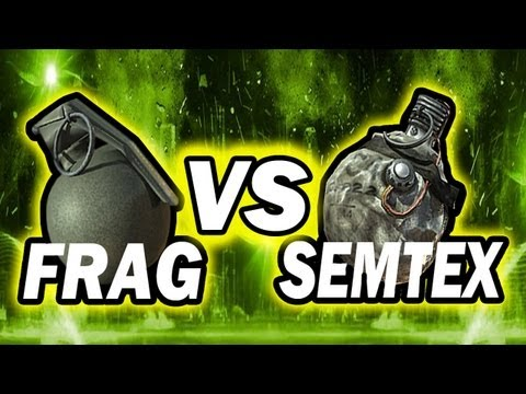 frag vs semtex - Claymore vs. Betty: http://www.youtube.com/watch?v=pcjd1s2dfng Stun vs. Flash vs. EMP: http://www.youtube.com/watch?v=resMV1qLOn4 Tshirts: http://tmartn.spre...