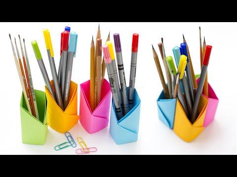 Diy Origami Pencil Holders Craftbnb