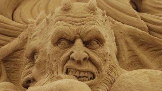 Beautiful and fun of sand sculpture Красивые и прикольные скульптуры из песка  YouTubeFotoVideo