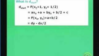 Lecture 14 Scan Converting Lines, Circles And Ellipses