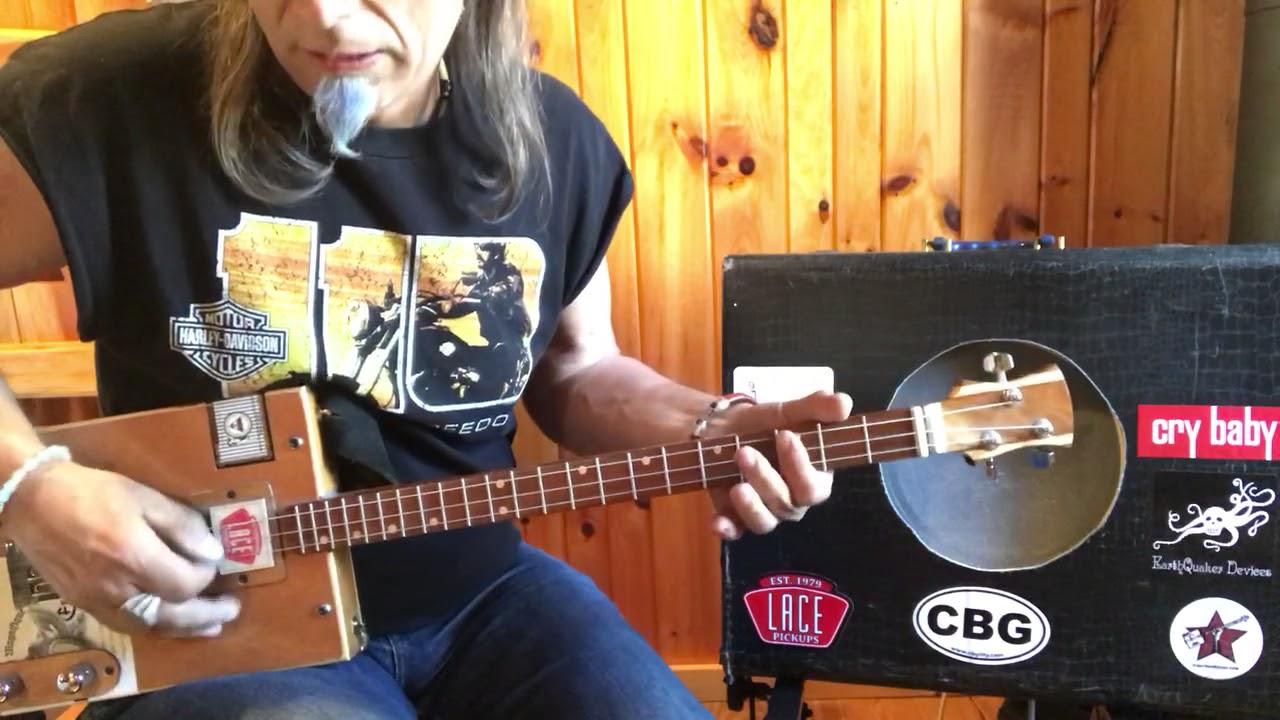Hey Joe lesson for 3 string Cigar Box Guitar