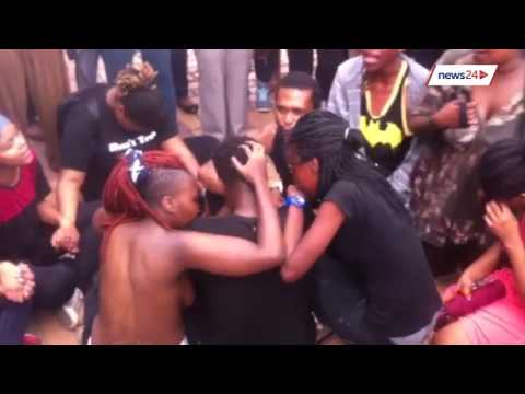 Wits 'naked' protest: Students protest against rape culture in solidarity with Rhodes