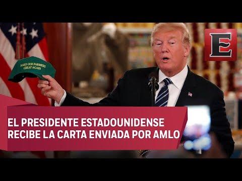 Trump elogia a López Obrador y espera que trabajen juntos