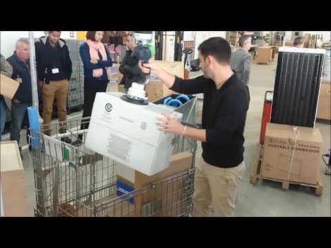 Manutention de cartons logistique