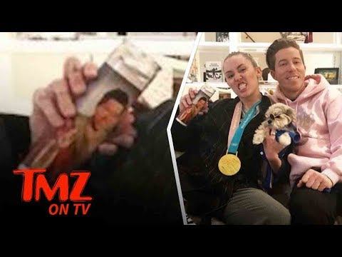 Miley Cyrus And Shaun White Hang Out! | TMZ TV (видео)