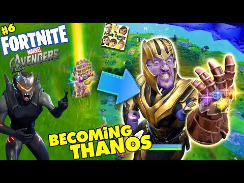 FORTNITE AVENGERS! Get Thanos Infinity Gauntlet Everytime? Marvel Battle Royale (FGTEEV #6) (видео)