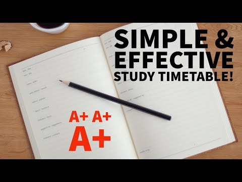 how to draw up a study timetable